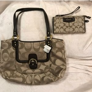 Coach purse with matching wallet Brand New